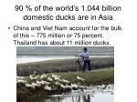 90 of the world s 1 044 billion domestic ducks are in asia