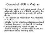 control of hpai in vietnam