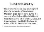 dead birds don t fly