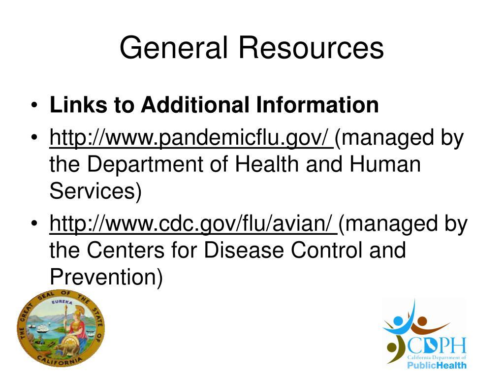 General Resources