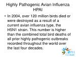 highly pathogenic avian influenza hpai