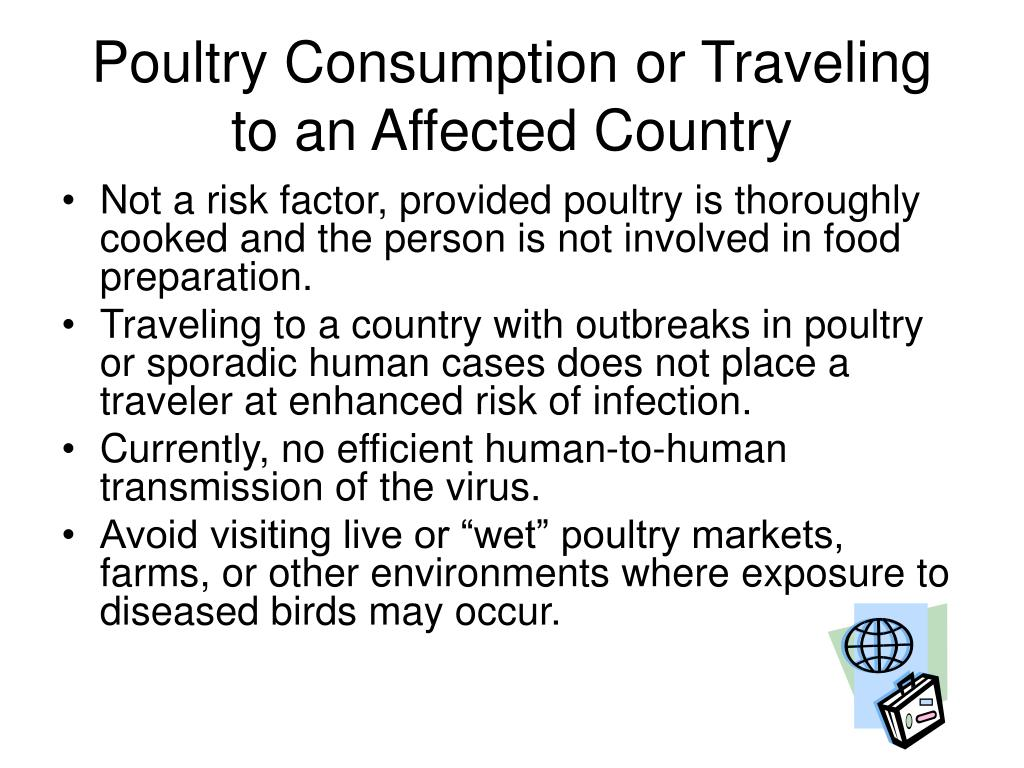 Poultry Consumption or Traveling to an Affected Country