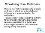smoldering rural outbreaks