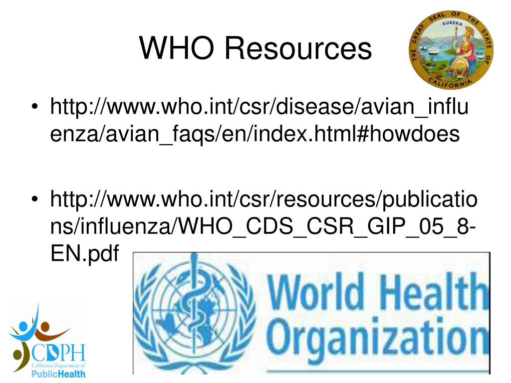 WHO Resources