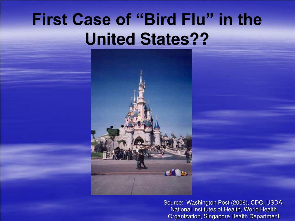 "First Case of ""Bird Flu"" in the United States??"