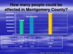 how many people could be affected in montgomery county