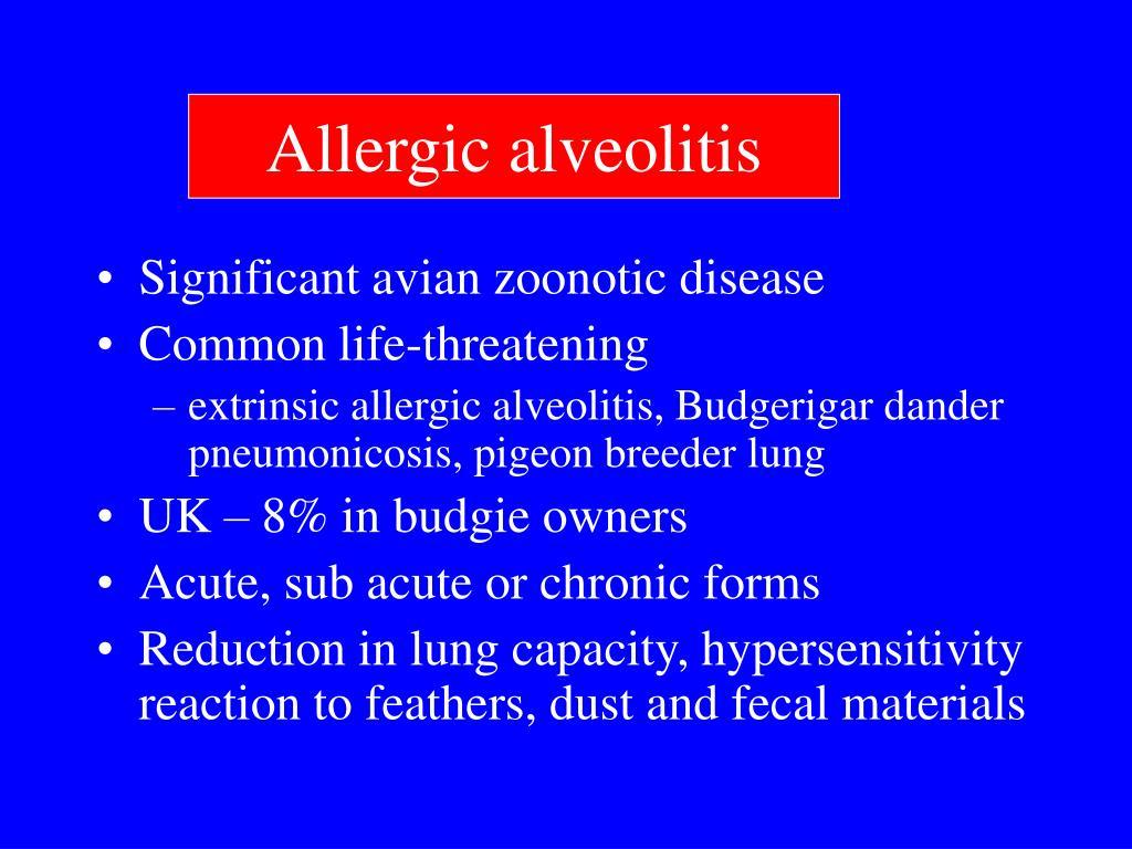 Allergic alveolitis