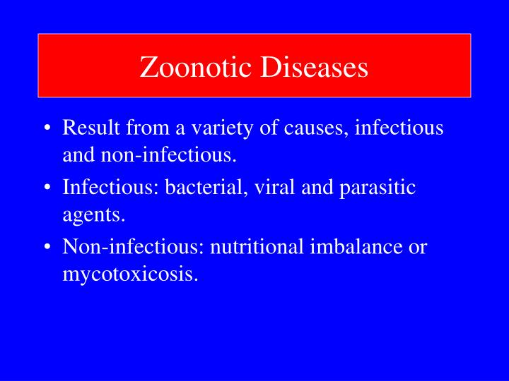 Zoonotic diseases3
