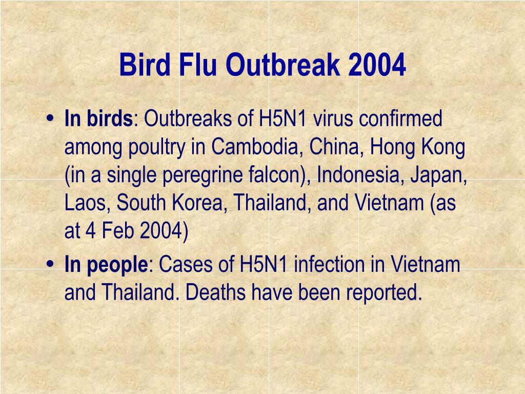 Bird Flu Outbreak 2004