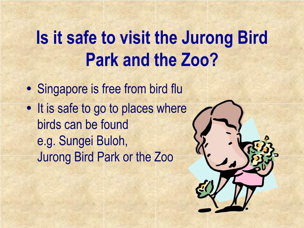 Is it safe to visit the Jurong Bird Park and the Zoo?