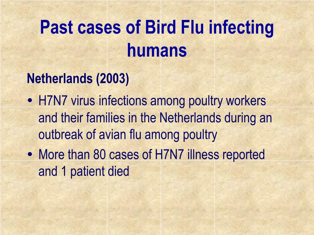 Past cases of Bird Flu infecting humans