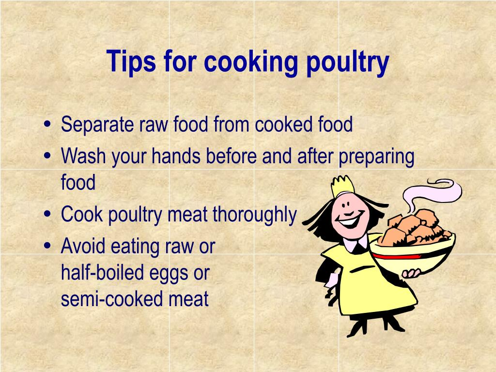 Tips for cooking poultry