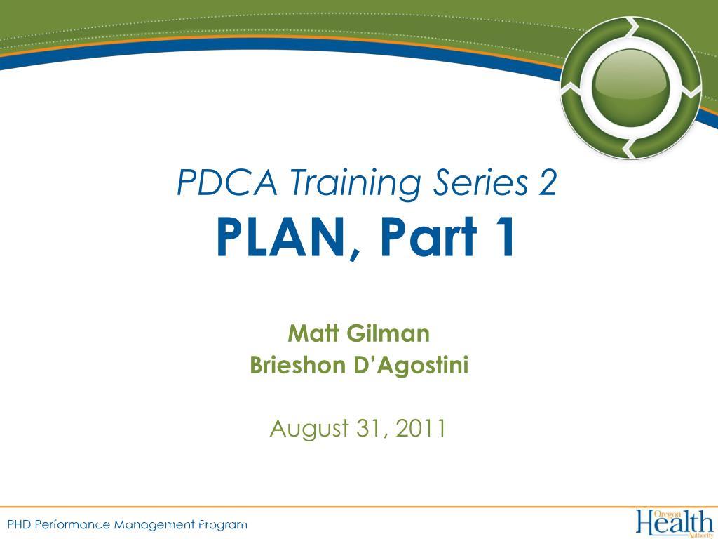 pdca training series 2 plan part 1 l.