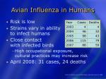 avian influenza in humans38