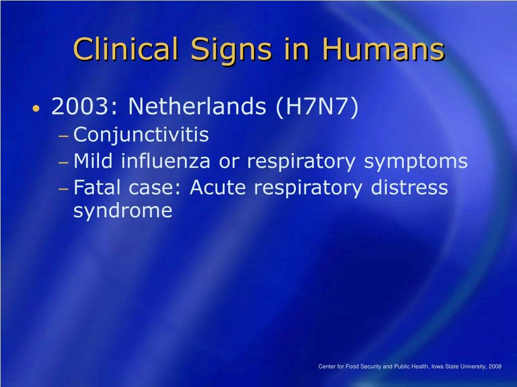 Clinical Signs in Humans