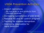 usda prevention activities
