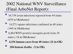 2002 national wnv surveillance final arbonet report
