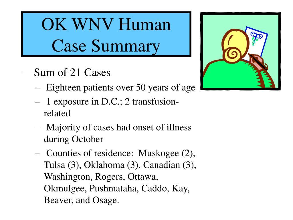 OK WNV Human Case Summary