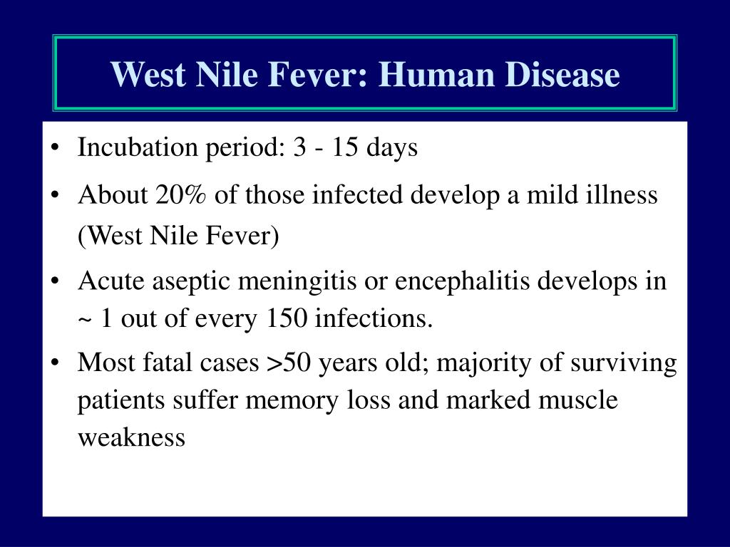 West Nile Fever: Human Disease