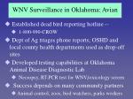 wnv surveillance in oklahoma avian