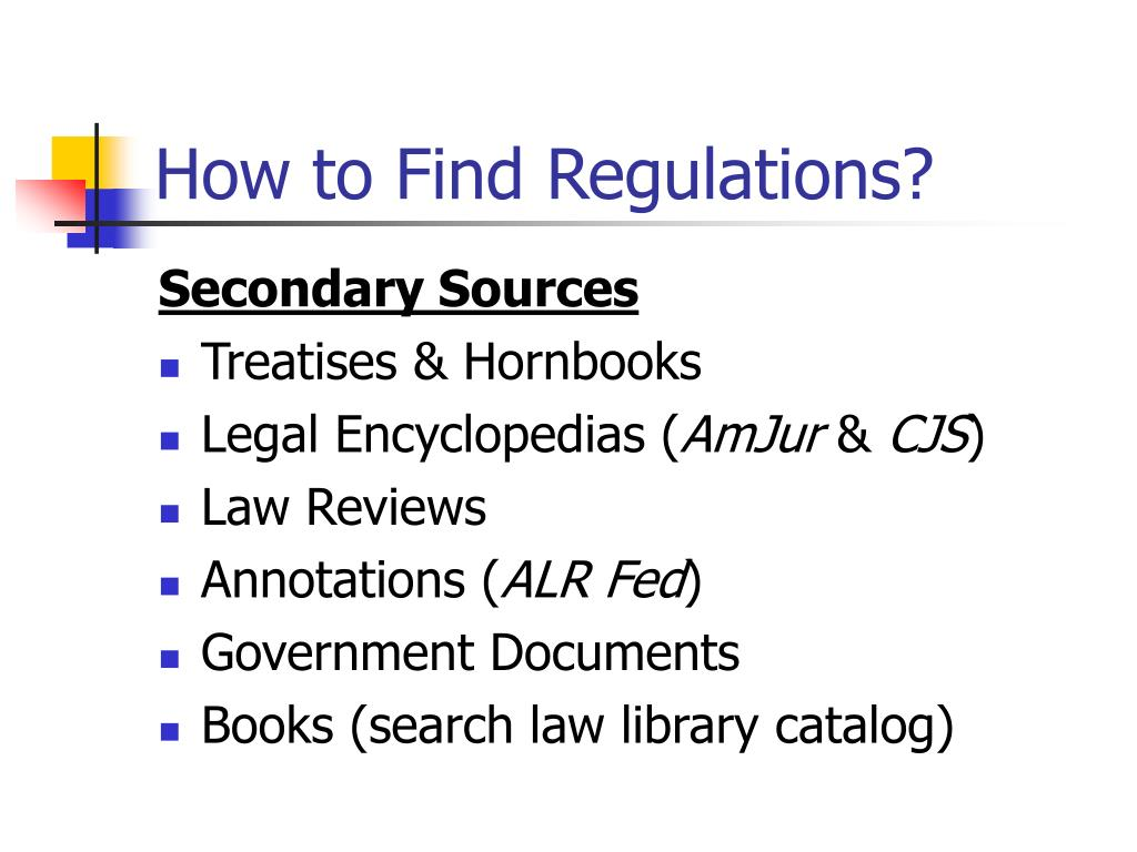 How to Find Regulations?