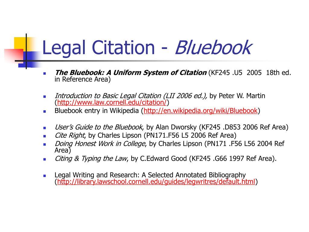 Legal Citation -