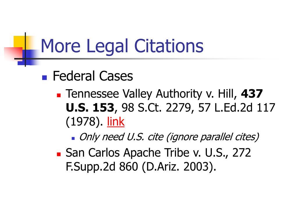 More Legal Citations