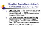 updating regulations 4 steps any changes to 21 cfr 172