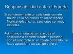 responsabilidad ante el fraude16