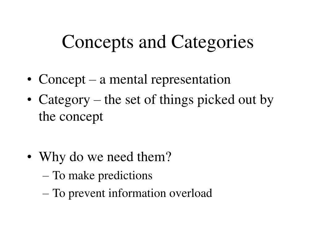 Concepts and Categories