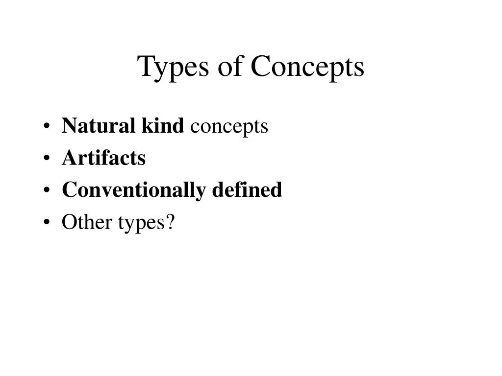Types of Concepts