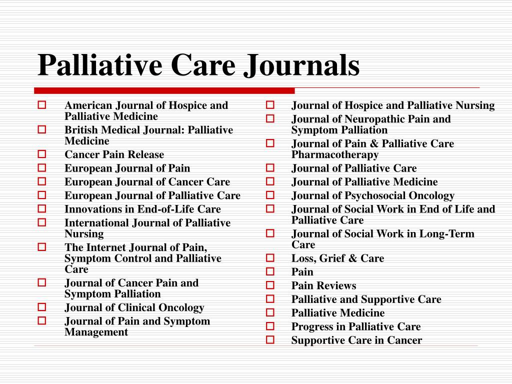 PPT - Educational Resources: Palliative Care in Cancer
