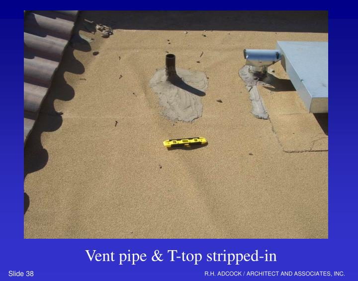 Vent pipe & T-top stripped-in