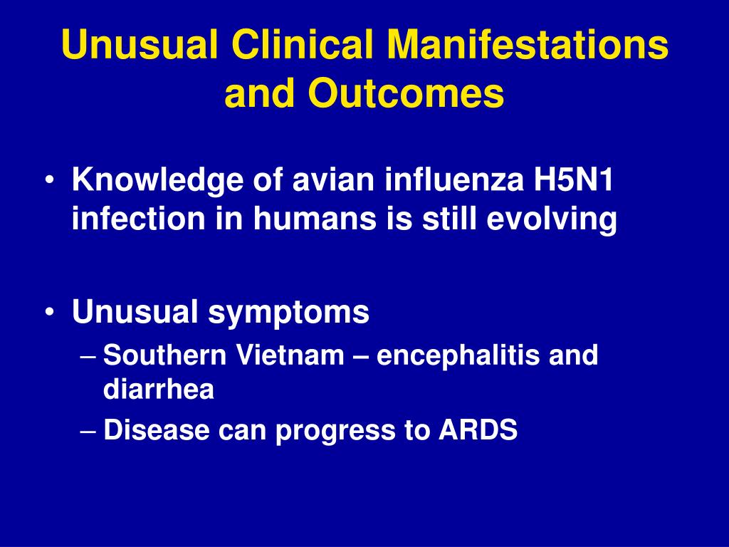 Unusual Clinical Manifestations and Outcomes