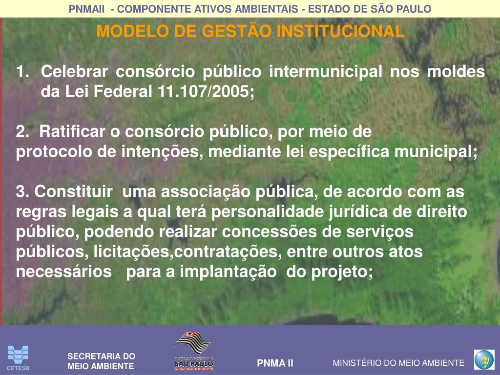 MODELO DE GESTÃO INSTITUCIONAL