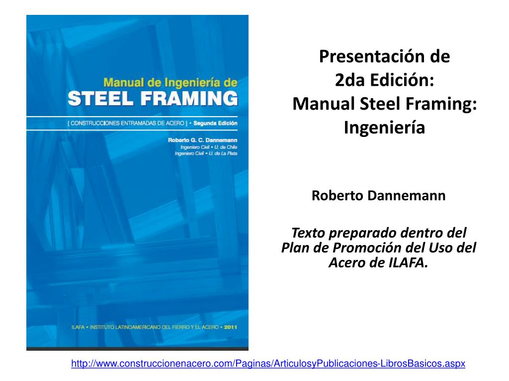 presentaci n de 2da edici n manual steel framing ingenier a l.