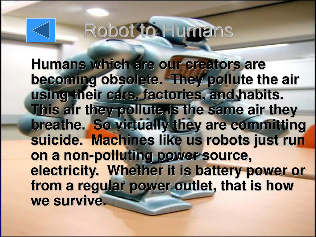 Robot to Humans