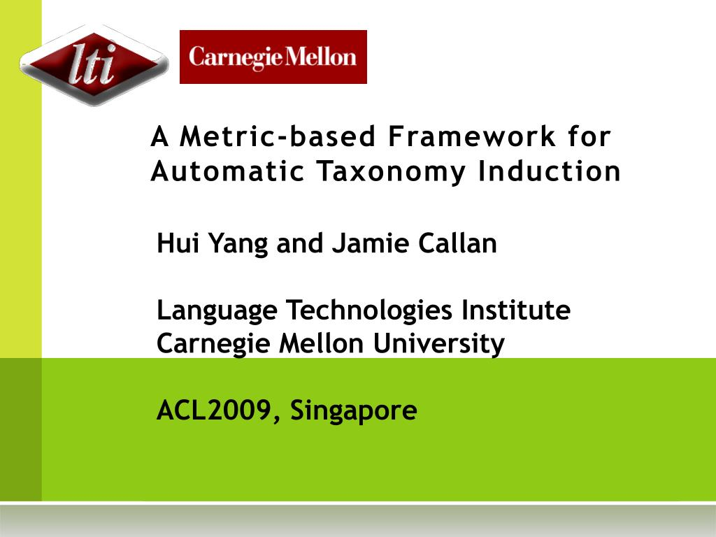 a metric based framework for automatic taxonomy induction l.
