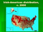 irish american distribution c 2000