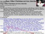 pope other christians not true churches