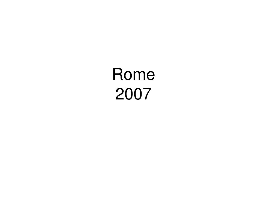 rome 2007 l.