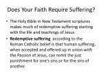 does your faith require suffering
