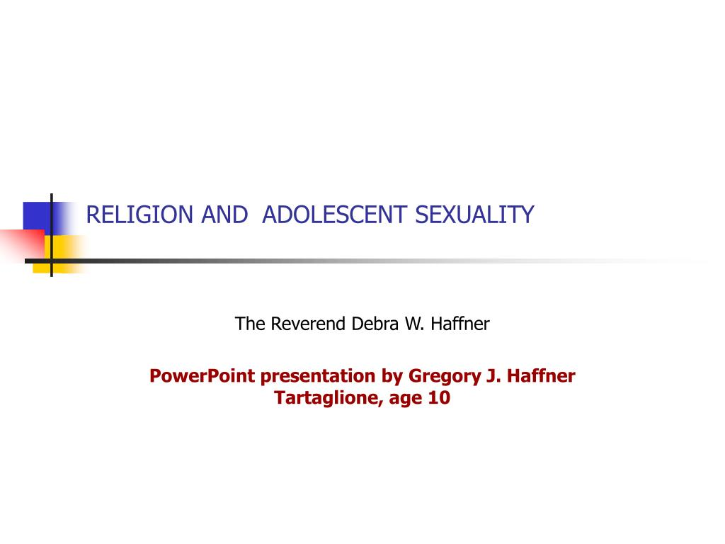 religion and adolescent sexuality l.