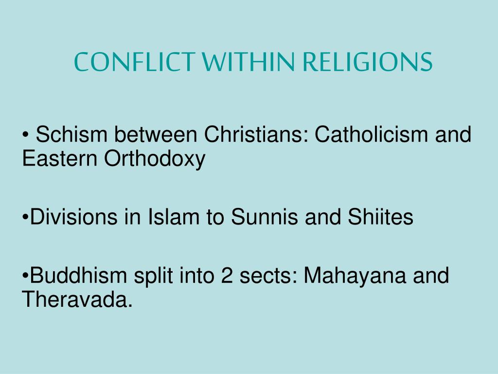 conflict within religions l.