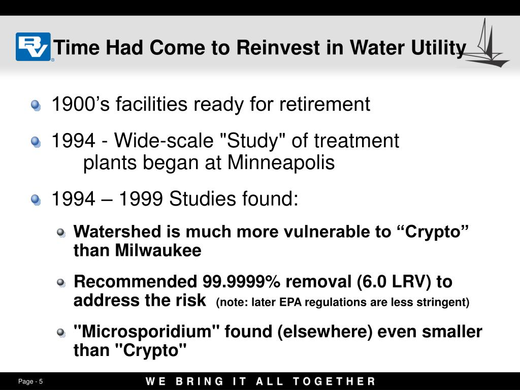 Time Had Come to Reinvest in Water Utility
