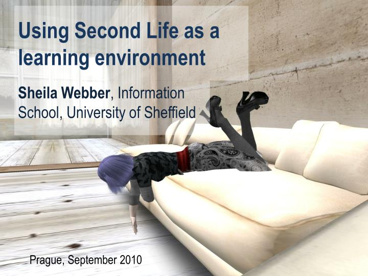 using second life as a learning environment n.