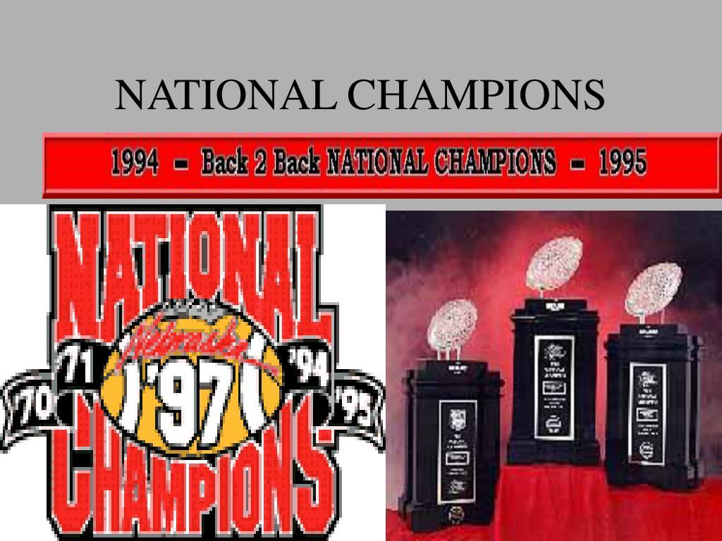 NATIONAL CHAMPIONS