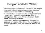 religion and max weber