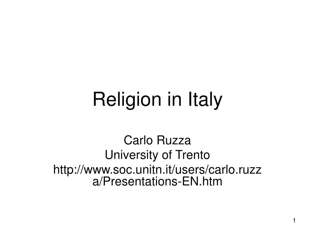 religion in italy l.