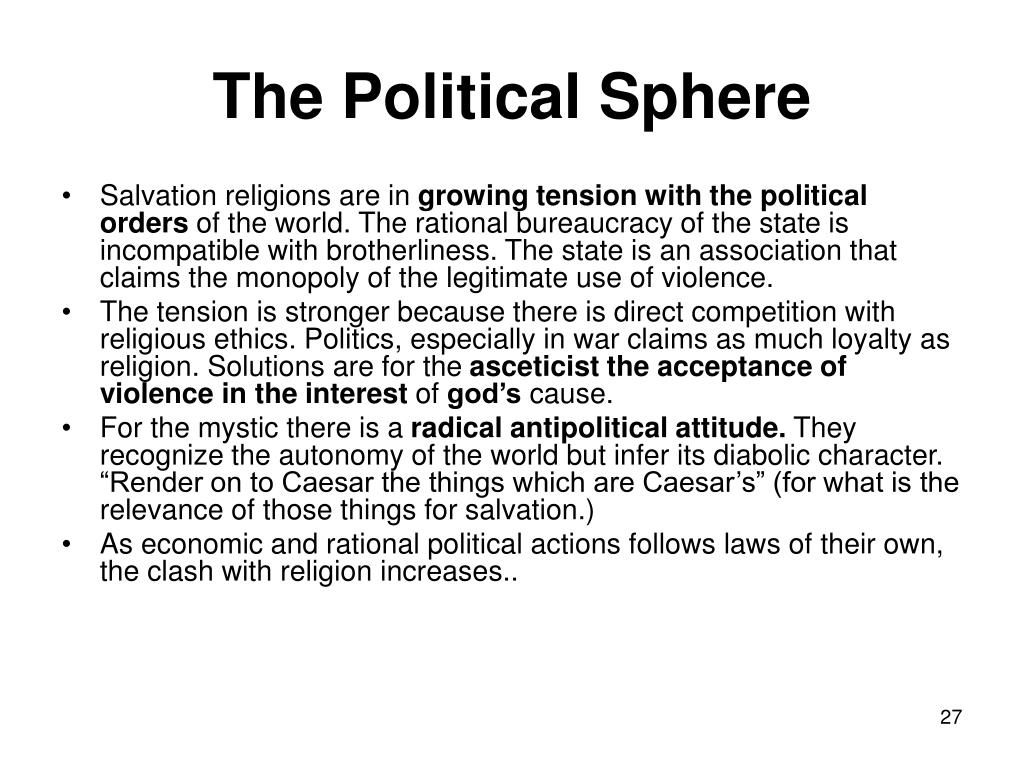 The Political Sphere